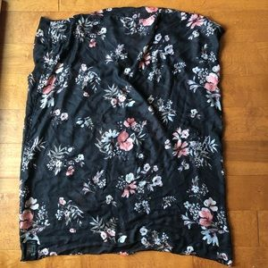 H&M Accessories - 4/$16 H&M Floral Infinity Scarf Black